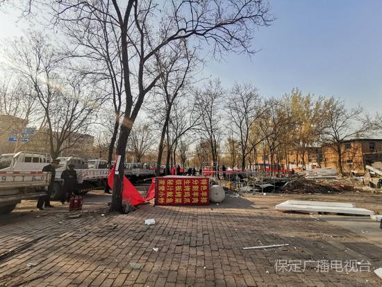 保定拆除小樹林燒烤違建 將建高端公園